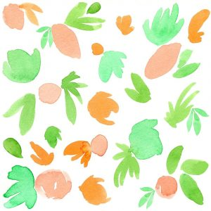 Peach Mint Abstract