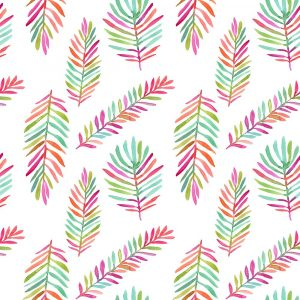 Bright Palm Leaves Pattern