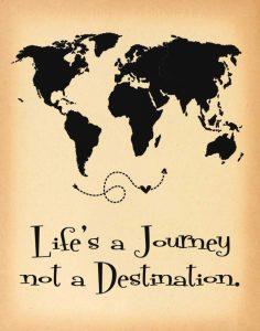 Lifes a Journey Parchment