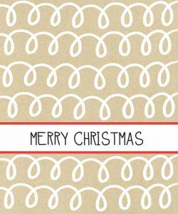 Krafty Merry Christmas White Loop