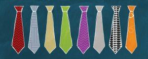 Row of Ties