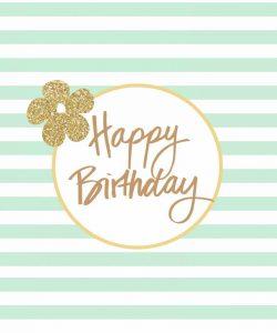 Mint Stripe Birthday