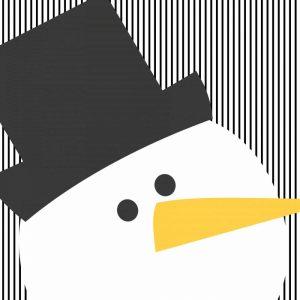 Snowman on Stripes