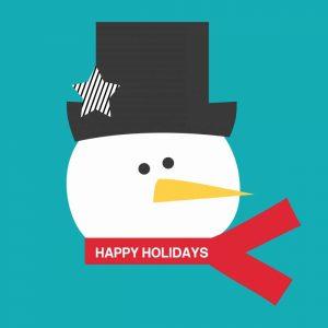 Happy Holidays on Blue I