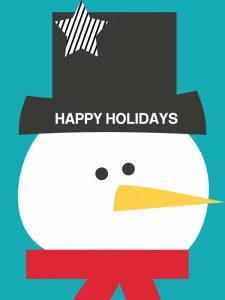 Happy Holidays on Blue II