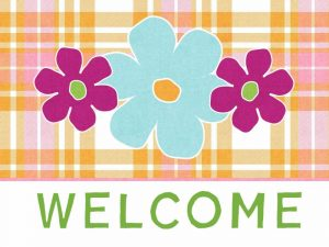 Plaid Floral Welcome