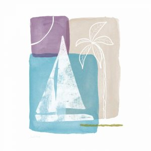 Sailboat and Palm