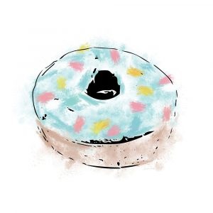 Blue Sprinkle Donut