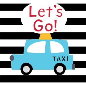 Lets Go – Bright Blue Taxi
