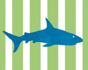 Blue and Green Shark