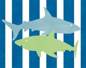 Blue and Green Shark III