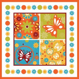 Butterflies and Blooms Playful X