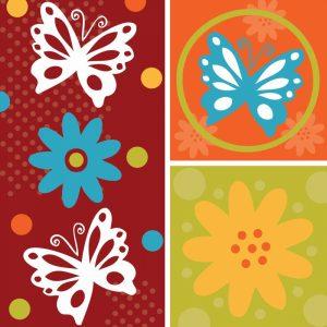 Butterflies and Blooms Playful XI