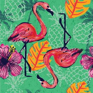Tropical Flamingo Pattern