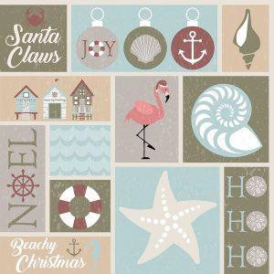 Coastal Christmas Collage