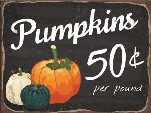 Pumpkins 50¢