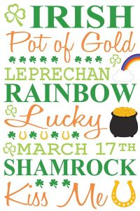 St. Patty Typography