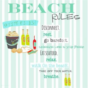 Beach Rules – Oysters