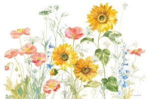 Floursack Florals on White I