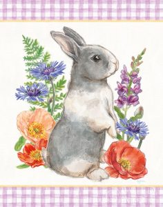 Sunny Bunny IV Checker Border